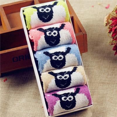 【卷皮1折】小绵羊羊毛袜(5双) 折扣价13.5元包邮抢购
